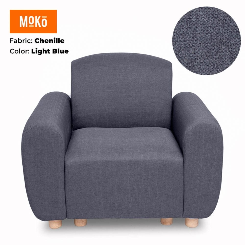 Moko Djenga 1 Sitter Chenille Light Blue