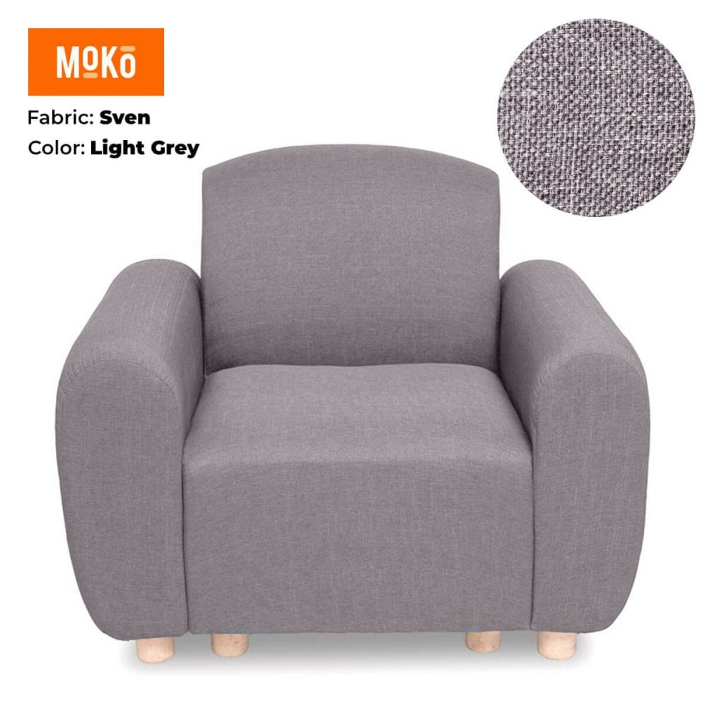 Moko Djenga 1 Sitter Sven Light Grey