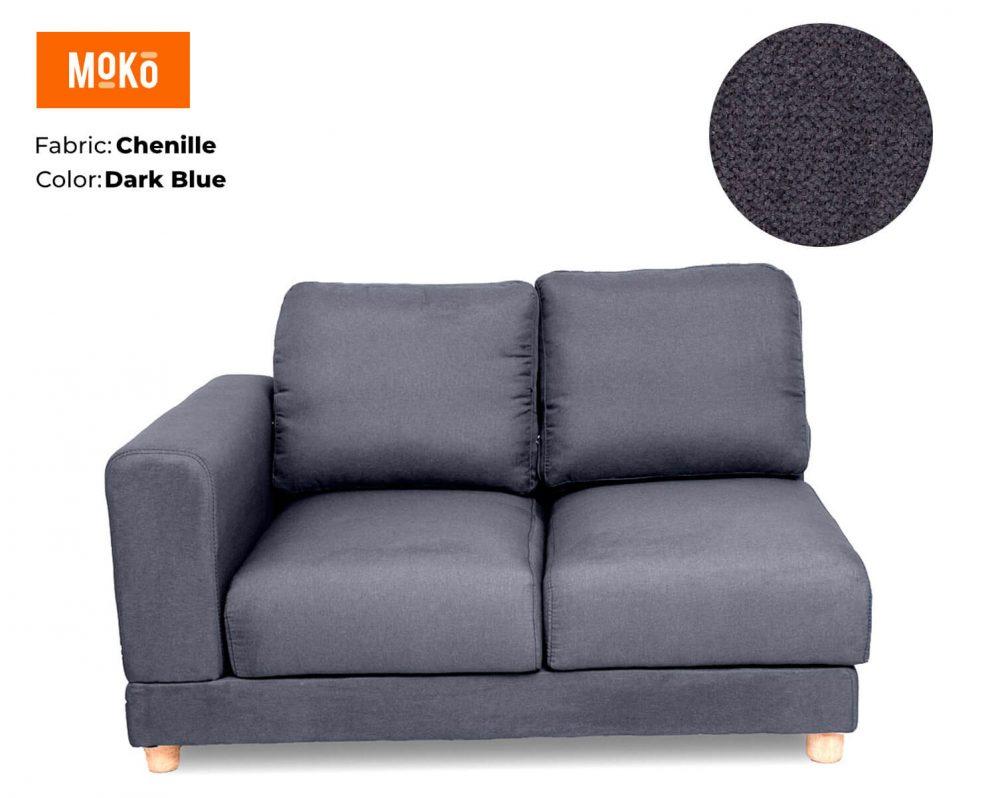 Moko Jiji 2 Seater Chenille Dark Blue