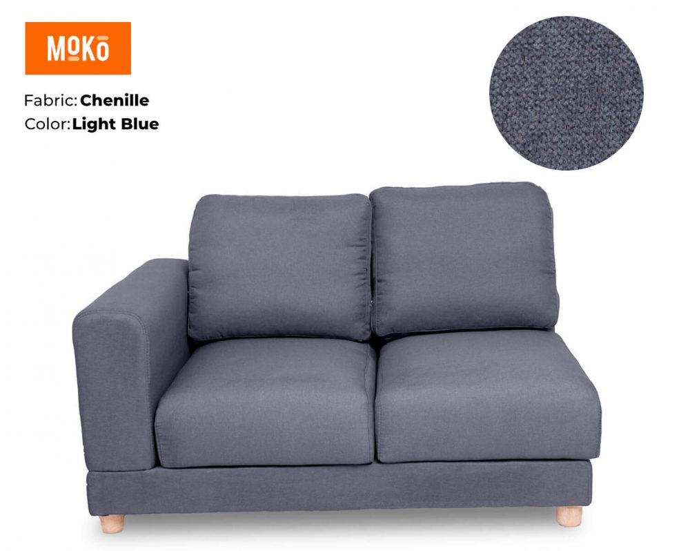 Moko Jiji 2 seater Chenille Light Blue