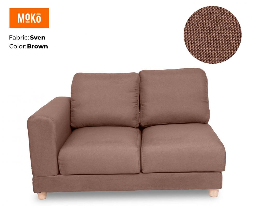 Moko Jiji 2 Seater Sven Light Brown