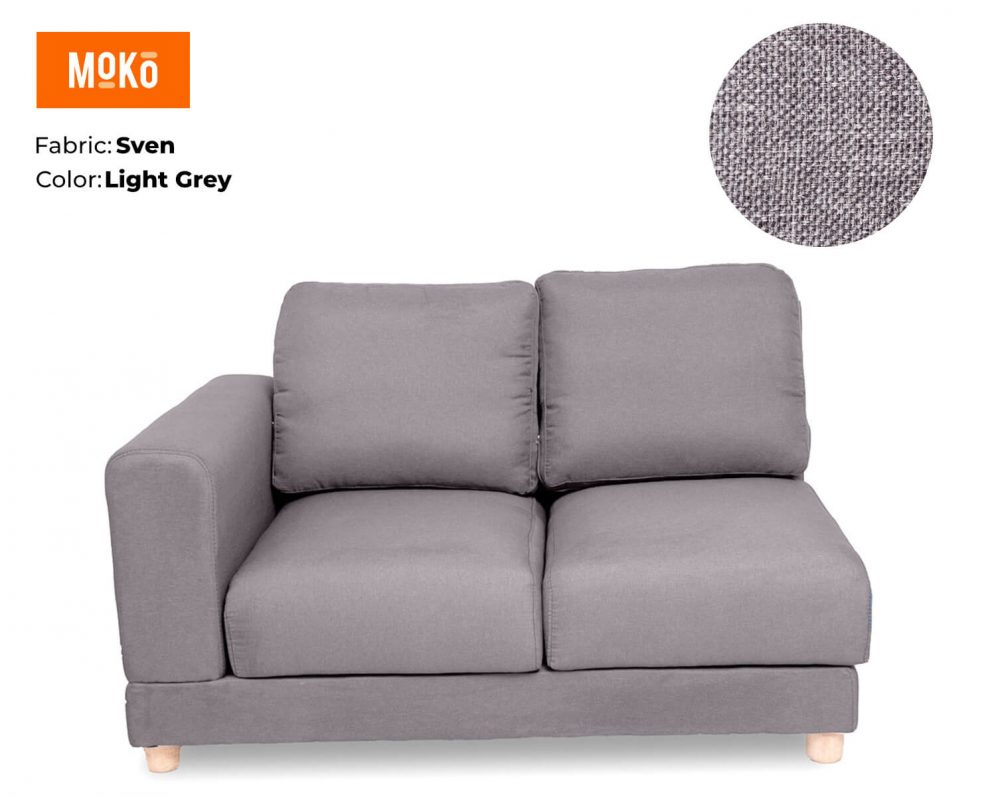 Moko Jiji 2 Seater Sven Light Grey