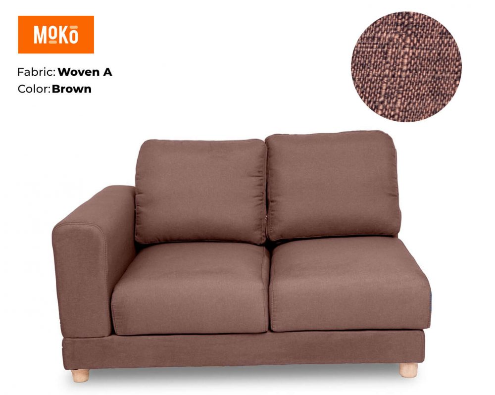 Moko Jiji 2 Seater Woven A Brown