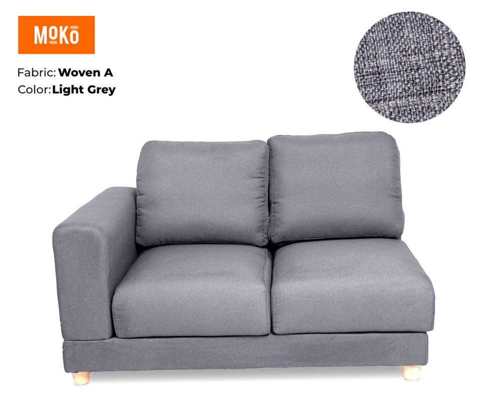 Moko Jiji 2 Seater Woven Light Grey