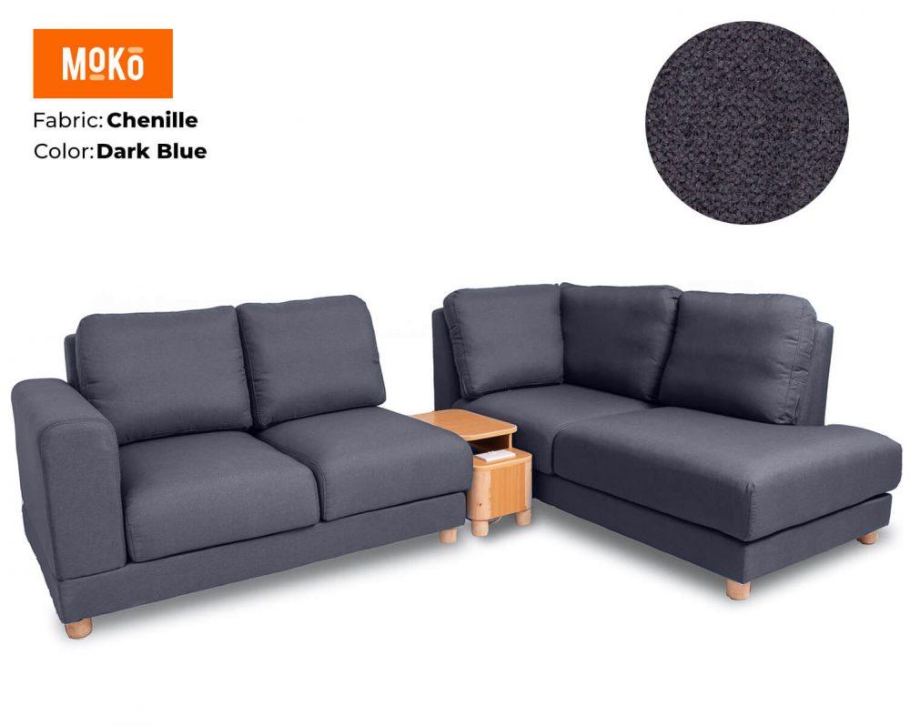 Moko Jiji 5 Seater Chenile Dark Blue