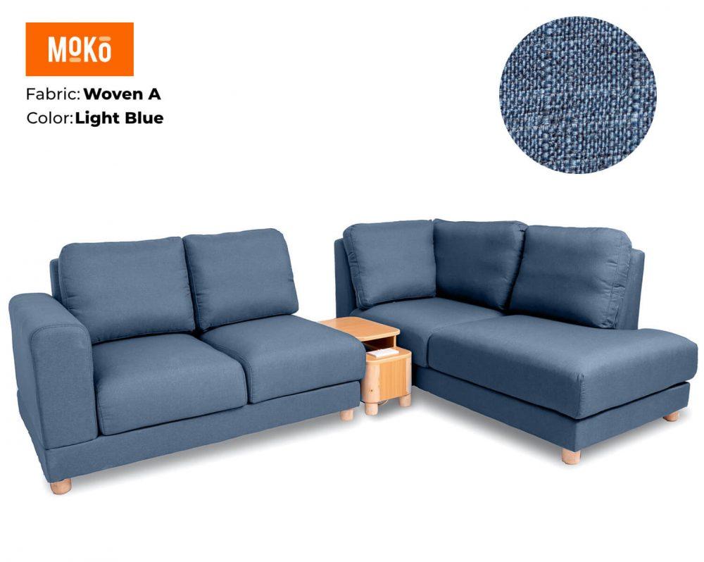 Moko Jiji 5 Seater Woven A Light Blue