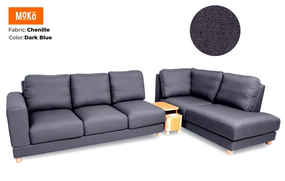 Moko Jiji 6 Seater Chenile Dark Blue