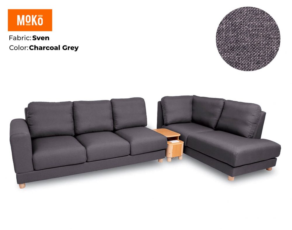 Moko Jiji 6 Seater Sven Charcoal Grey