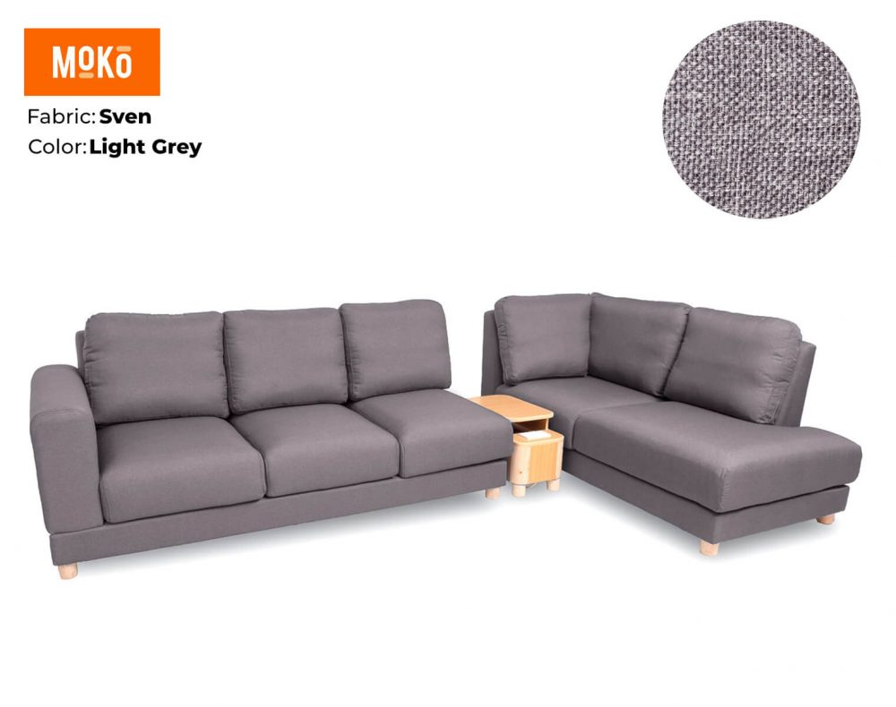 Moko Jiji 6 Seater Sven Light Grey