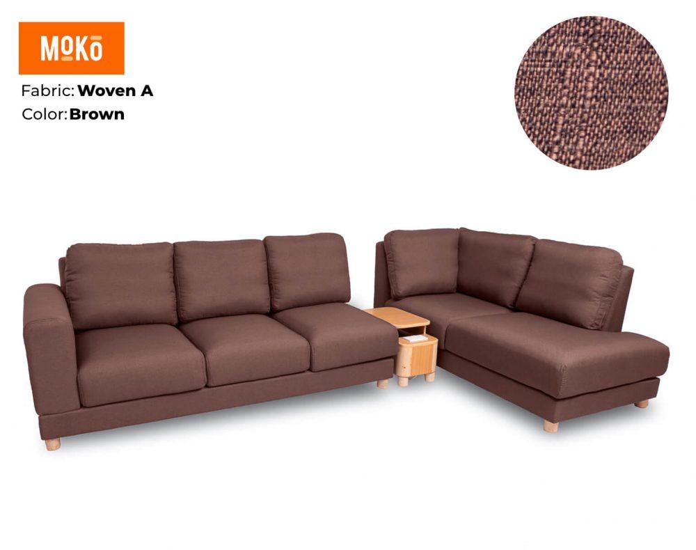 Moko Jiji 6 Seater Woven A Brown