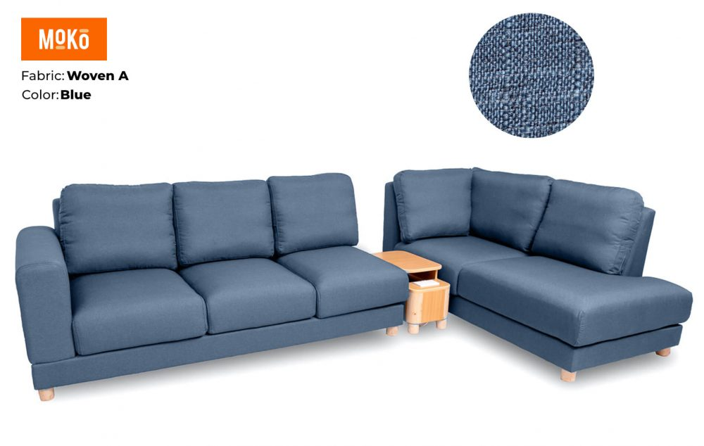 Moko Jiji 6 Seater Woven A Light Blue