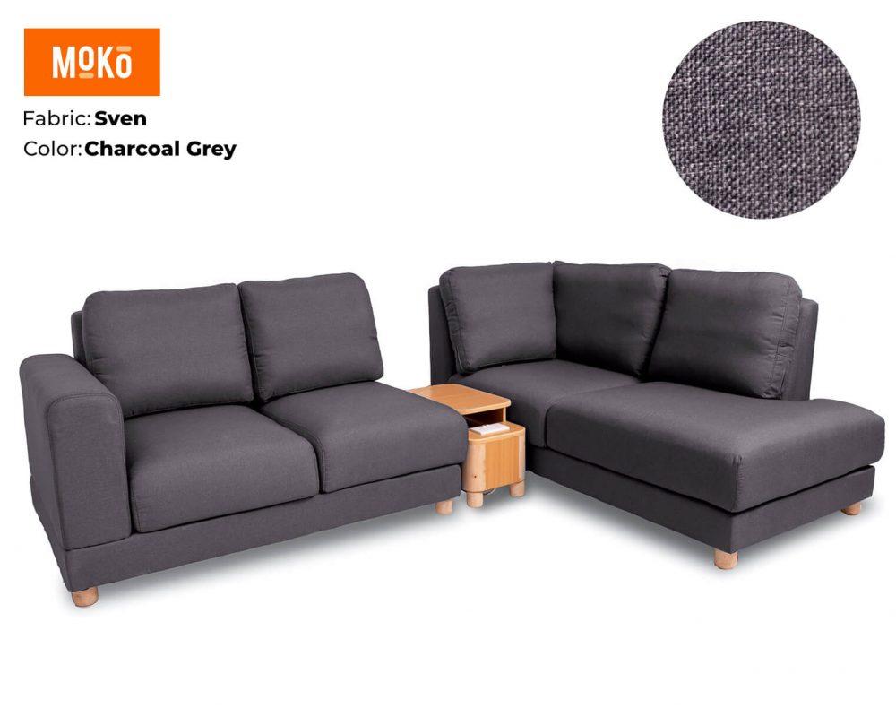 Moko Jiji 5 Seater Sven Charcoal Grey