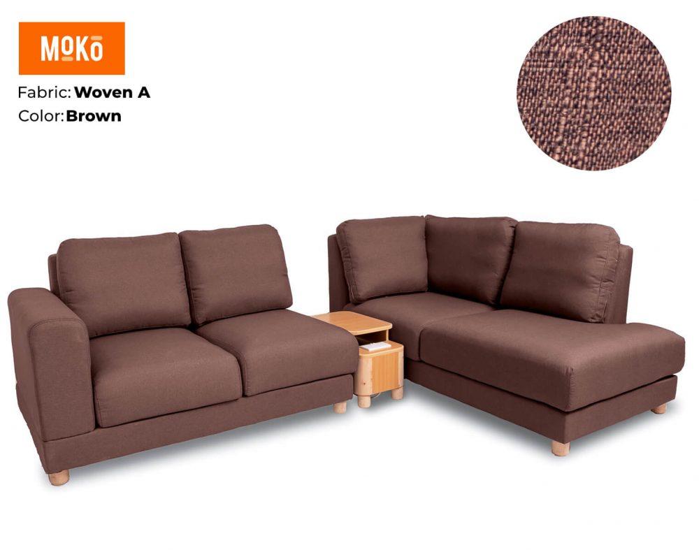 Moko Jiji 5 Seater Woven A Brown