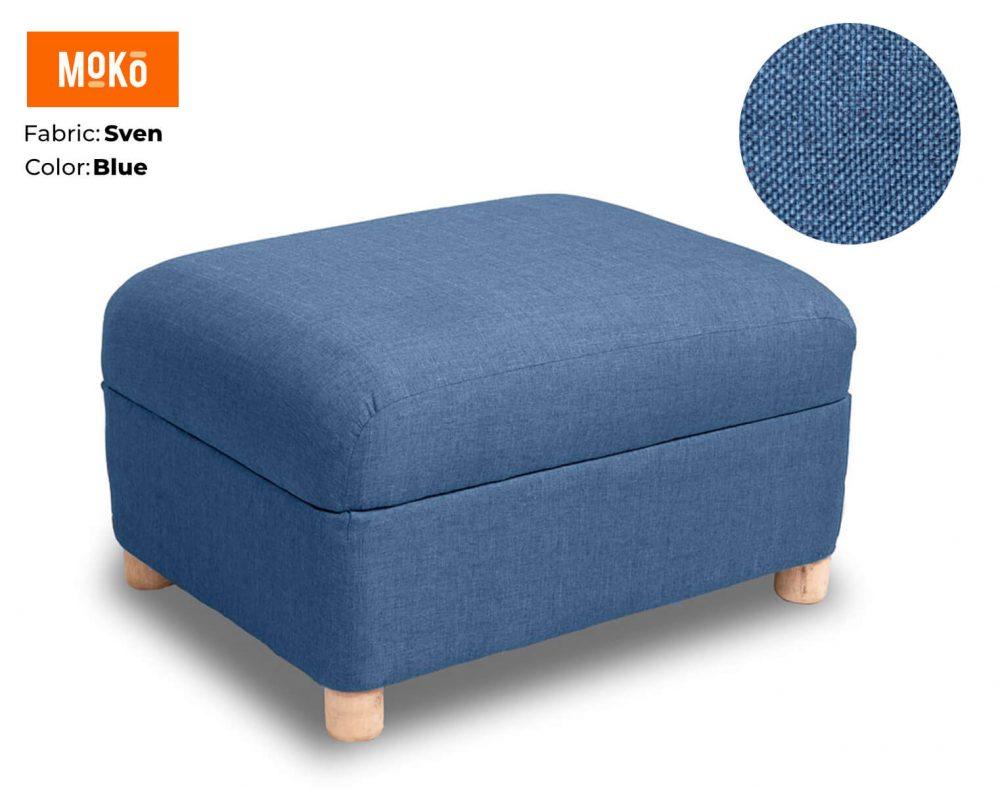 Moko Ottoman Sven Blue
