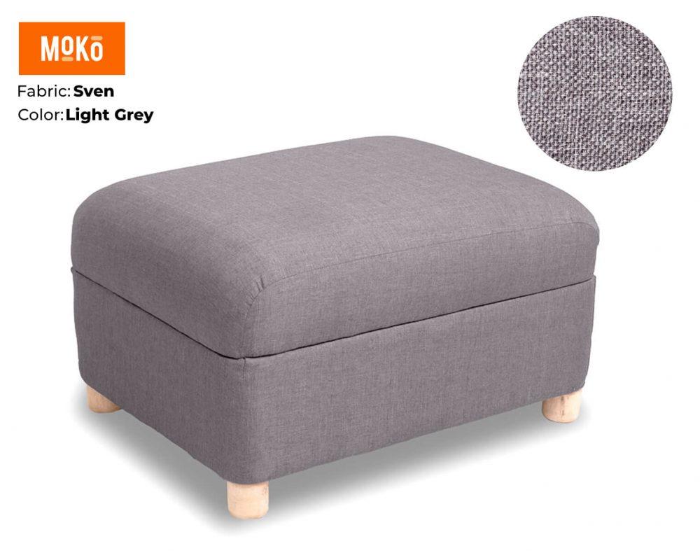 Moko Ottoman Sven Light Grey
