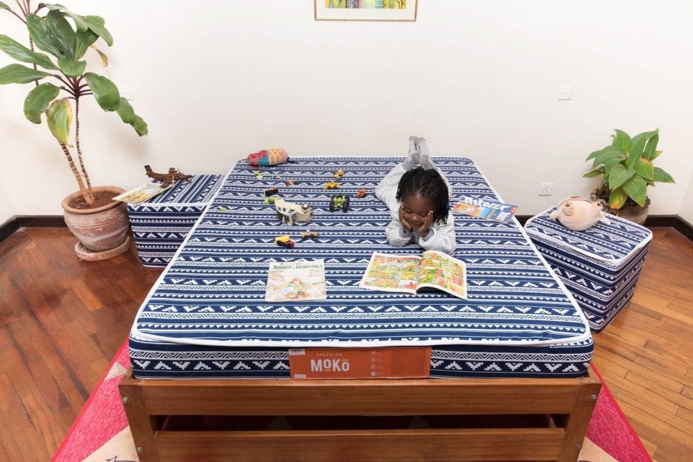 Little Girl Laying on a Moko Mattress