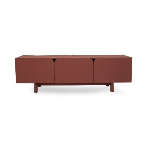 Lango TV Stand (green) with closed doors