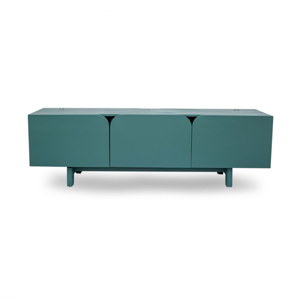 Lango TV Stand (brown) with closed doors
